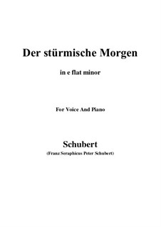 No.18 Der stürmische Morgen (The Stormy Morning): For voice and piano (e minor) by Franz Schubert