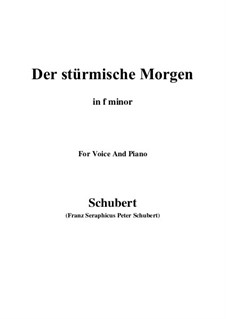 No.18 Der stürmische Morgen (The Stormy Morning): For voice and piano (f sharp minor) by Franz Schubert
