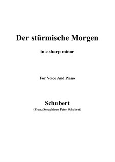 No.18 Der stürmische Morgen (The Stormy Morning): For voice and piano (c minor) by Franz Schubert