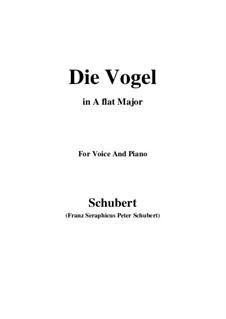 Die Vögel (The Birds), D.691: A flat Major by Franz Schubert