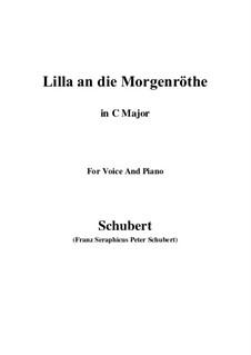 Lilla to the Dawn, D.273: C maior by Franz Schubert