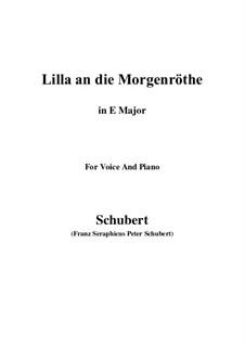 Lilla to the Dawn, D.273: E Major by Franz Schubert