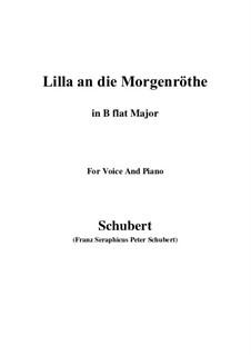 Lilla to the Dawn, D.273: B flat Maior by Franz Schubert