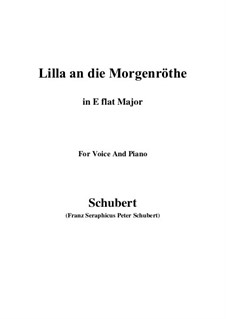 Lilla to the Dawn, D.273: E flat maior by Franz Schubert