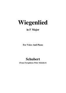 Wiegenlied (Cradle Song), D.867 Op.105 No.2: Para voz e piano (F maior) by Franz Schubert