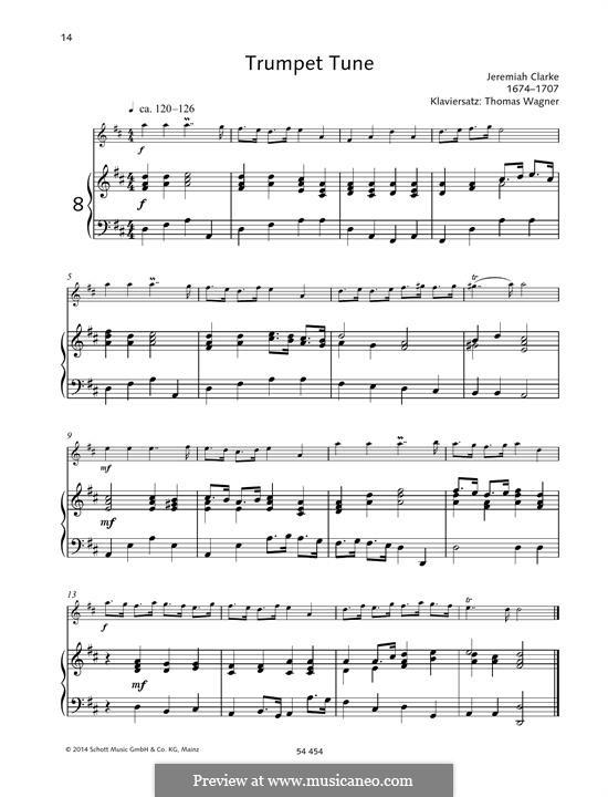 Trumpet Tune: para trompeta e piano by Jeremiah Clarke