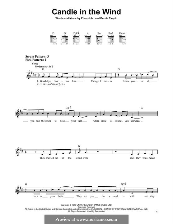 Candle in the Wind: Para Guitarra by Elton John