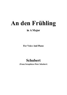 An den Frühling (To Spring), D.587: A maior by Franz Schubert