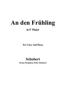 An den Frühling (To Spring), D.587: F Maior by Franz Schubert