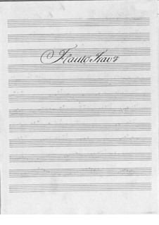 Concerto for Flute and Orchestra No.3 in F Major: partes by Friedrich Hartmann Graf
