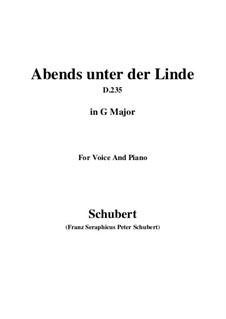 Abends unter der Linde (Evening Beneath the Linden Tree), D.235: G maior by Franz Schubert