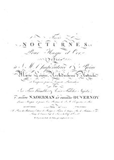 Three Nocturnes for Harp and French Horn (or Violin), Op.32: Three Nocturnes for Harp and French Horn (or Violin) by François-Joseph Naderman