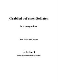 Grablied auf einen Soldaten (Dirge for a Soldier), D.454: C sharp minor by Franz Schubert