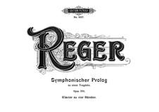 Symphonic Prologue to Tragedy, Op.108: para piano de quadro mãos by Max Reger