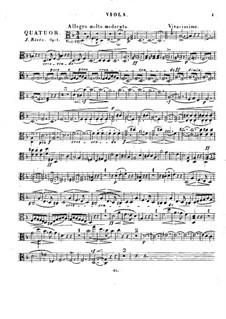 String Quartet in D Minor, Op.1: parte viola by Julius Rietz