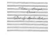 Concerto for Violin in G Major, BI 520: parte de cordas by Alessandro Rolla