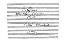 Symphony in D Major, BI 532: Sinfonia em D maior by Alessandro Rolla