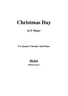 Christmas Day: E Major by Gustav Holst