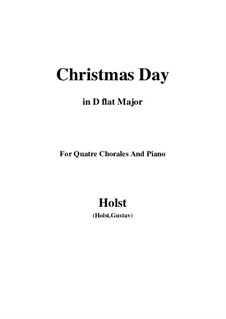 Christmas Day: D flat Major by Gustav Holst