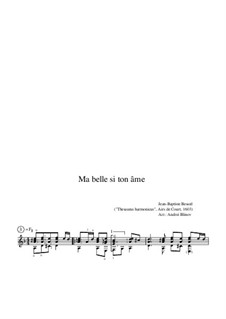 Ma belle si ton âme: Ma belle si ton âme by Jean-Baptiste Besard
