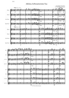 Alleluia In Resurrectione Tua: For flute octet or flute choir by Jacob Handl