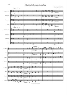 Alleluia In Resurrectione Tua: For brass octet by Jacob Handl