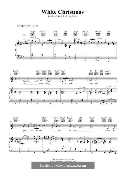 White Christmas: Para vocais e piano by Irving Berlin