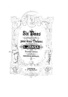 Six Duos for Two Violins, Op.74: violino parte II by Leopold Jansa