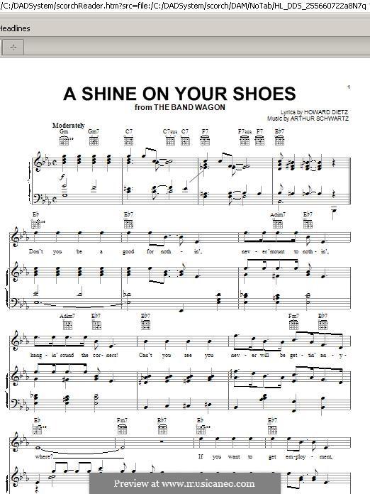 A Shine On Your Shoes: Para vocais e piano (ou Guitarra) by Arthur Schwartz