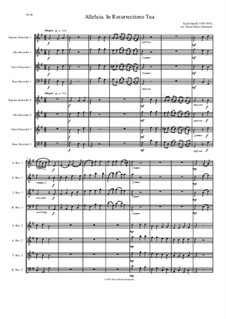Alleluia In Resurrectione Tua: For recorder octet by Jacob Handl