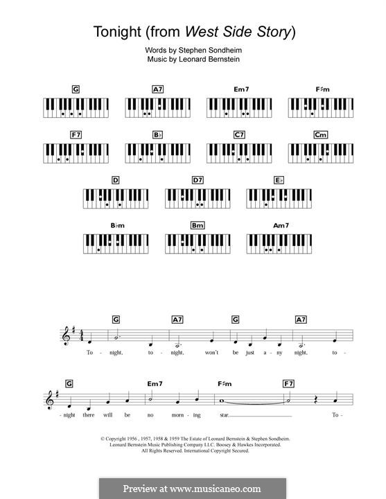 Tonight (from West Side Story): Para Piano by Leonard Bernstein