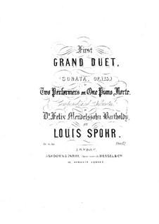 Sonata for Piano No.1 in A Flat Major, Op.125: versão para piano de quatro mãos by Louis Spohr