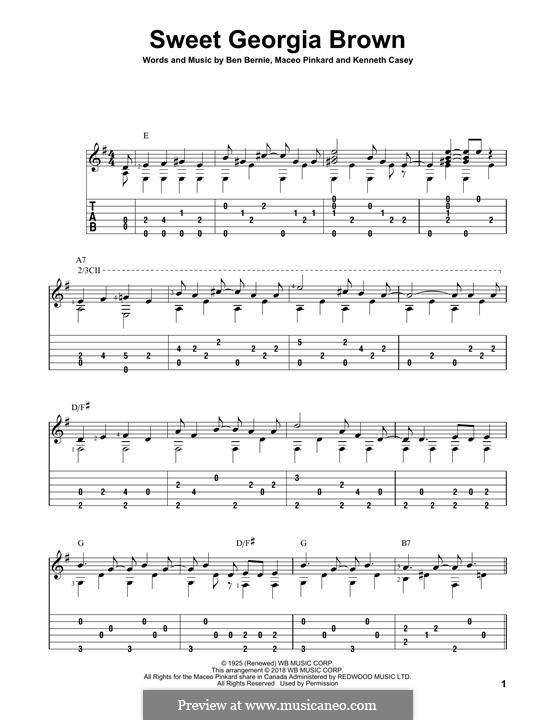 Sweet Georgia Brown: Para guitarra com guia by Maceo Pinkard, Kenneth Casey