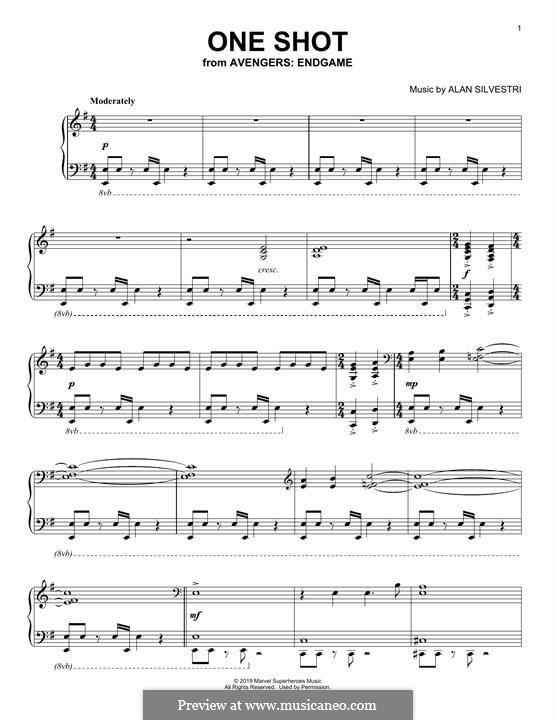 One Shot (from Avengers: Endgame): Para Piano by Alan Silvestri