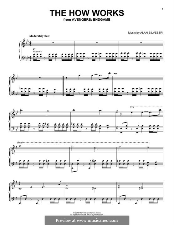 The How Works (from Avengers: Endgame): Para Piano by Alan Silvestri