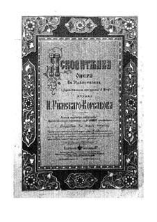 The Maid of Pskov: partitura completa by Nikolai Rimsky-Korsakov