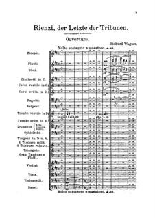 Rienzi, the Last of the Tribunes, WWV 49: partitura completa by Richard Wagner