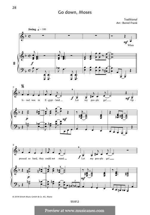 Go Down Moses: Para vocais e piano by folklore