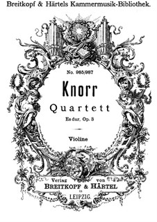 Piano Quartet in E Flat Major, Op.3: parte do violino by Ivan Knorr