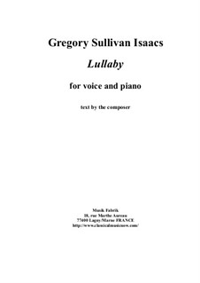 Lullaby for voice and piano: Lullaby for voice and piano by Gregory Sullivan Isaacs