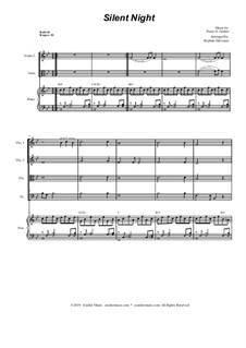 Silent Night (Downloadable): For string quartet and piano by Franz Xaver Gruber