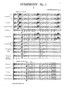 Symphony No.1, Op.13: partitura completa by Sergei Rachmaninoff