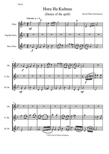 Hora Ha-Kulmus (Dance of the quill): For oboe, cor anglais and bass oboe by David W Solomons