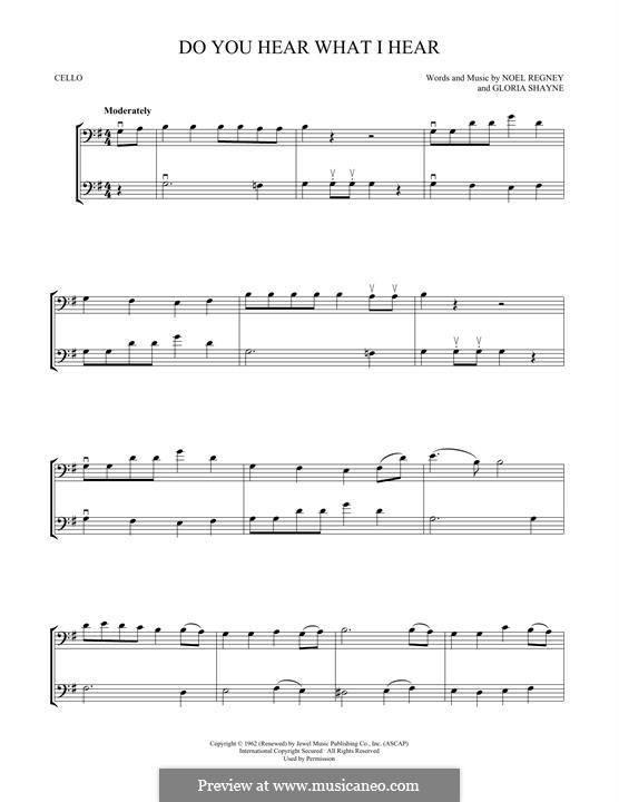 Do You Hear What I Hear: para dois violoncelo by Gloria Shayne, Noël Regney