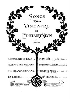 Songs from Vineacre, Op.28: No.7 A Hero Song by Ethelbert Woodbridge Nevin