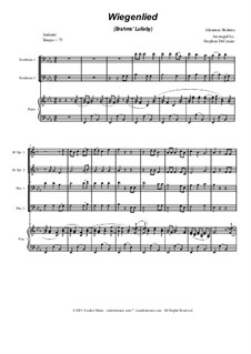 No.4 Cradle Song: For brass quartet and piano - alternate version by Johannes Brahms