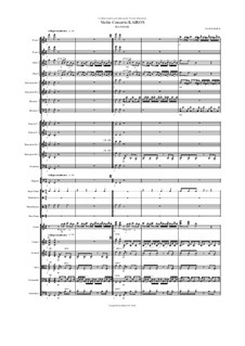 Violin Concerto Kairos for violin and orchestra: III Ananke – score by Hans Bakker