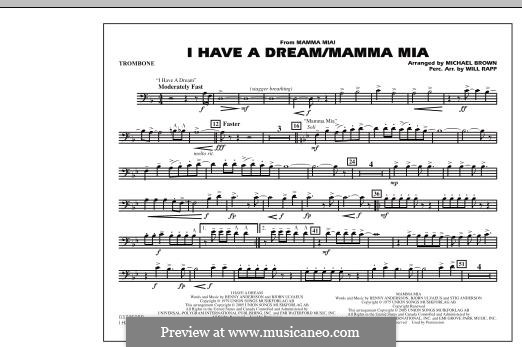 I Have a Dream / Mamma Mia!: parte trombone by Benny Andersson, Björn Ulvaeus