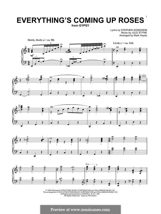 Everything's Coming Up Roses: Para Piano by Jule Styne, Stephen Sondheim