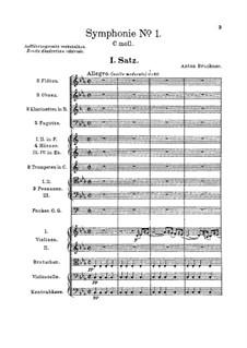 Symphony No.1 in C Minor, WAB 101: partitura completa by Anton Bruckner